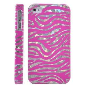 Hard Zebra Case Cover for iPhone 4S/iPhone 4 (Pink