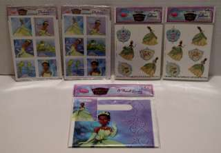 Princess and the Frog Birthday Stickers Temporary Tattoos Treat Bags 8