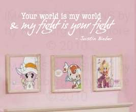 Justin Bieber Vinyl Wall Art Sticker Decor Decal Quote Inspirational