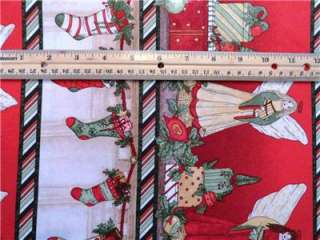 New Christmas Fabric BTY Angels Stockings Holiday Presents Ornaments