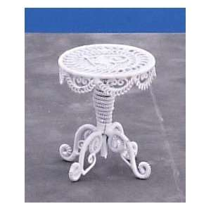 Dollhouse Miniature White Wire Table: Everything Else