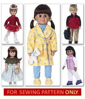 DOLL CLOTHES PATTERN FIT AMERICAN GIRL + 18 BOY OUTFIT