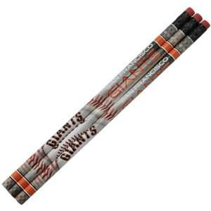 Giants 3 Pack Team Logo Pencil Set   White