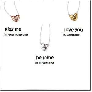 Avon Valentines Day Heart Necklace   Love You in goldtone