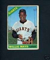 Willie Mays 1966 Topps # 1 San Francisco Giants