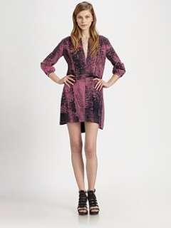 Kelly Wearstler   Arco Printed Hi Lo Shirtdress