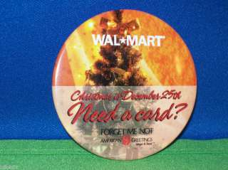 American Greetings Card FORGET ME NOT Wal Mart Pinback