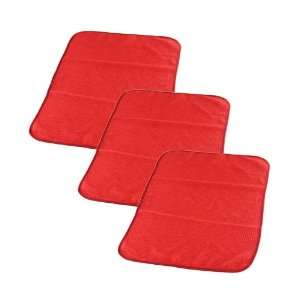 WINDOW CLEAN GLASS Waffle Weave  Streak Free Towel RED w/SILK EDGES 24