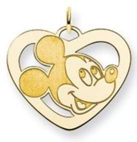 Gold over Sterling Silver Mickey Mouse Charm / Pendant