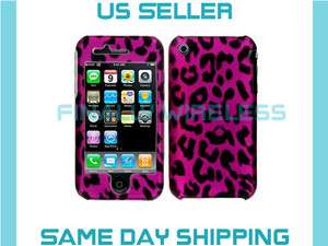 Pink Leopard Print Case Cover Protector Apple iPhone 3G 3GS