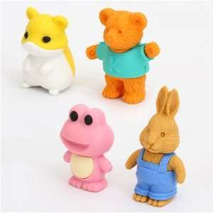 Iwako erasers animals blue box 4 pieces set Toys & Games