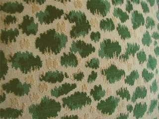 Fils Cut Velvet Fabric Custom Designer Pillows Green New 2
