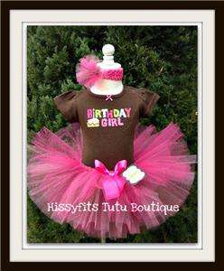 1st Birthday Girl Tutu Set Dress Outfit 12m Short or Long sleeves