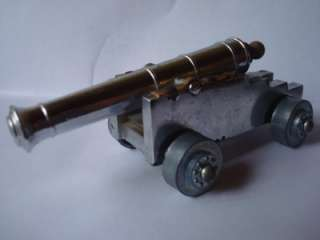 Vintage mini Toy Diecast Cap Gun Navel Cannon Made in Italy
