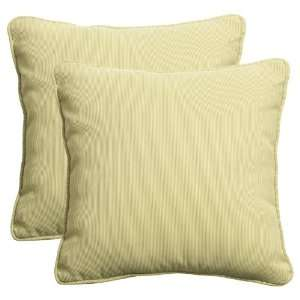 Woven Green Outdoor Pillows made from Durable Polypropylene Patio