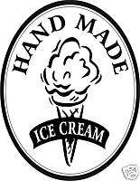 Ice Cream Parlor Hand Made Concession Food Decal Sign