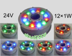 12*1W/24V LED Multi color Fountain Submersible Light