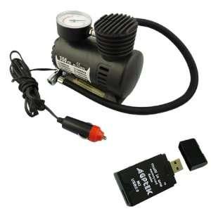 Mini Portable Air Compressor 12 Volt Plug and Pump Tire