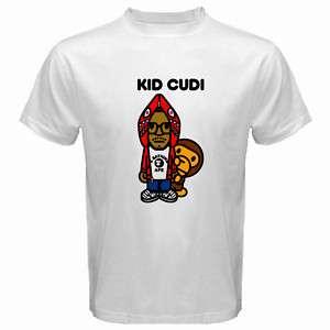 Kid Cudi Rap Baby Milo Hip Hop White T Shirt SIZE S 5XL