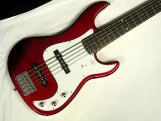 BC105 5 String bass guitar NEW Red with FREE Light Hard CASE