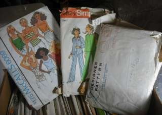 58 Vtg Sewing Patterns Tracing Paper Womens Childrens CUT USED