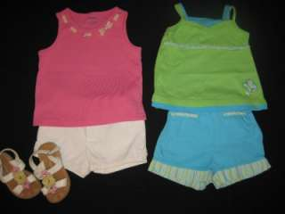 44pcs BABY TODDLER GIRL 4T SPRING SUMMER CLOTHES LOT DRESSES OUTFITS