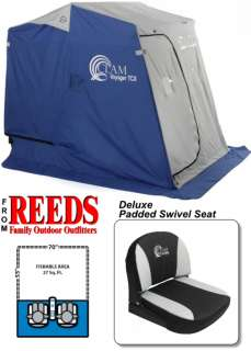 Clam Voyager TCX   2 Man Ice Fishing Shelter House   9028 |