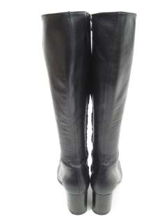 ROBERT CLERGERIE Black Leather Knee High Boots Sz 7.5