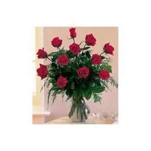 Dozen Red Roses Gift Basket:  Grocery & Gourmet Food