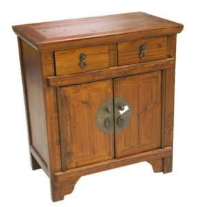 Oriental Style Small Wooden End Table /Night Stand