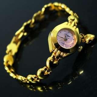 Cute Golden Ladies Girls Womens Quartz Wrist Watch,A9