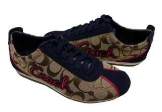 SIGNATURE KHAKI NAVY SUEDE WOMENS SNEAKERS Authentic New in Box