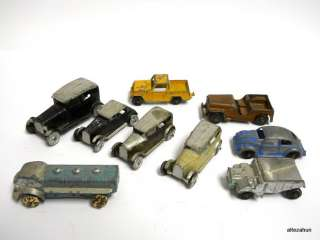 lot of 9 Vintage TOOTSIE Toy Cars, Truck Die Cast