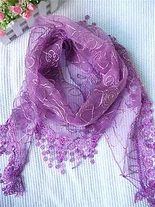 2012 Fashion Women Lace Triangular Scarf Shawl Gorgeous Christmas Gift