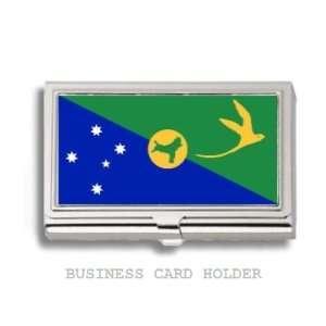 Christmas Island Flag Business Card Holder Case