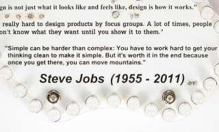 Steve Jobs Memorial LED Light Board, DIY Electronic kit  Warm White