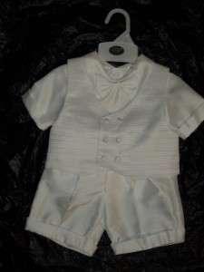 Baby Boys White Christening Baptism short/XS/0 3 MONTHS