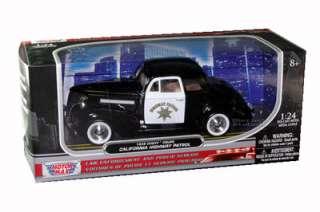 1939 CHEVY COUPE CALIFORNIA PATROL CHP POLICE CAR 1/24