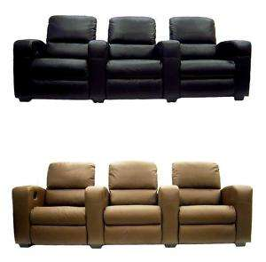 OR DARK BROWN CINEMA CONNOISSEUR HOME THEATER RECLINER SEATING CHAIR