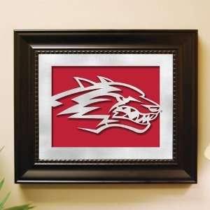 New Mexico Lobos Framed Laser Cut Logo Wall Art Sports