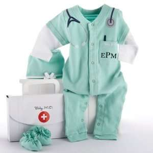 Big Dreams Baby M.D. Three Piece Layette Set in Doctors Bag Gift