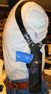 LEATHER SHOULDER HOLSTER 4 BROWNING HI POWER 9
