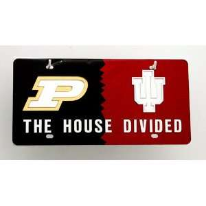 Boilermakers/ Indiana Hoosiers House Divided License Plate Automotive