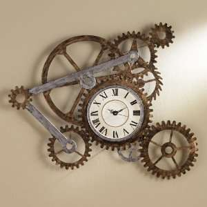 Southern Enterprises GA1912T SEI Gear Wall Art & Clock