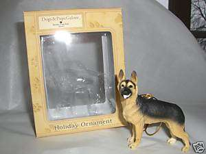 GERMAN SHEPHERD DOG FIGURINE CHRISTMAS TREE ORNAMENT