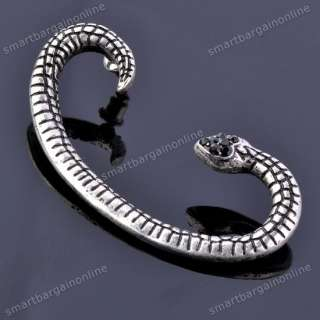Vintage Silvery Snake Ear Wrap Cuff Earring Gothic Rock Punk Fashion