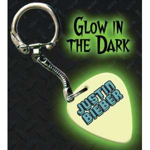Justin Bieber Glow In The Dark Premium Guitar Pick Keyring