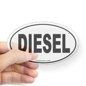 Diesel Euro Sticker Euro Oval Sticker by  Arts