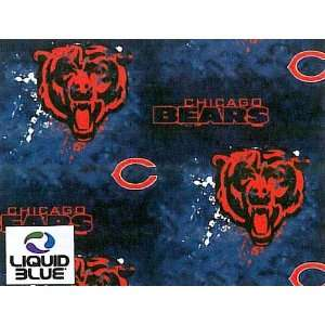 Cotton NFL Chicago Bears Liquid Football Print Cotton