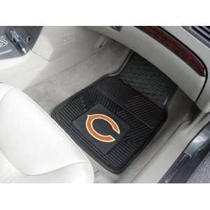 NFL Chicago Bears 2 Piece Heavy Duty Vinyl Floor Car Mat